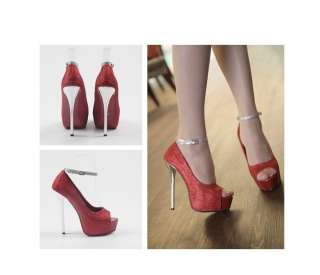 2012 NEW Luxury (BIG 8CM) Womens Super High Heel Shoes Pump Platform 4