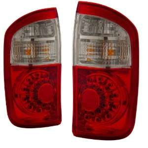 2006 Toyota Tundra KS LED Red/Clear Tail Lights Double Cab Automotive