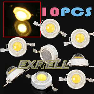10pcs 1W High Power LED Warm White Energy Saving Light Lamp Beads DIY