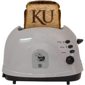 NCAA Kansas Jayhawks Silver Team Logo Pro Toaster