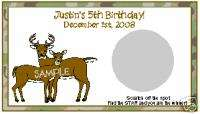SCRATCH OFFS DEER HUNTING BUCK DOE BIRTHDAY PARTY GAME
