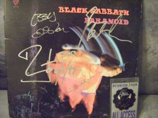 BLACK SABBATH SIGNED RECORD AUTOGRAPHED VINYL FULL BAND