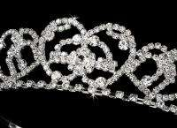 PRINCESS DIANA REPLICA Silver Bridal Tiara wedding veil gown prom