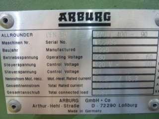 Arburg 44 Ton Injection Molding Machine 270C 400 90 #38037