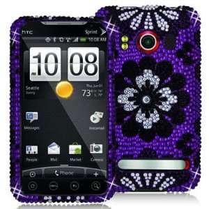 HTC EVO 4G Branded PREMIUM FULL DIAMOND PROTECTOR CASE   BLACK AND