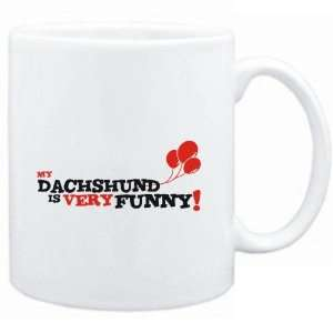 Mug White  MY Dachshund IS EVRY FUNNY  Dogs: Sports