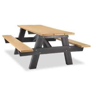 8 A Frame Recycled Plastic Picnic Table Patio, Lawn