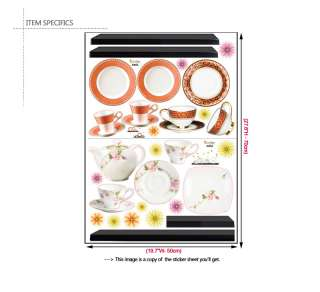 TEA TIME ★ KITCHEN DECOR ART MURAL DECALS WALL STICKERS