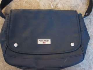 Vintage blue Polo Sport Ralph Lauren messenger cross body bag