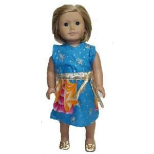 American Girl Doll Outfit Princess Print Dress Toys
