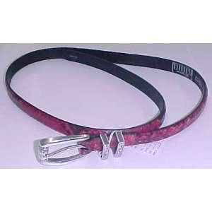 Brighton C3612 Red and Black Snake Skin Belt Everything