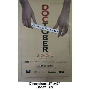 DOCTOBER 2000 4th Ann. Film Festival 27x40 Poster