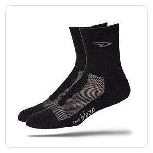 Defeet Blaze Merino Wool Socks   Charcoal  Sports