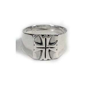 Silver Celtic Iron Cross Mens Ring Size 13(Sizes 9,10,11,12,13,14,15