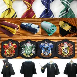 Wholesale Harry Potter Accessory Cape Robe Costume Badges Ties Scarves
