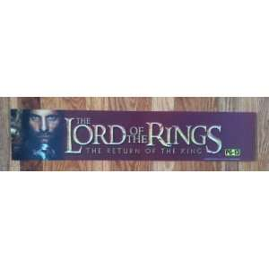 Movie Theatre Promo Marquee Official Title Sign   LORD OF