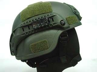 MICH TC 2000 ACH Helmet w/NVG Mount & Side Rail OD