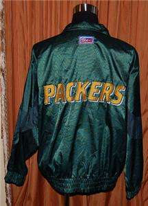 GREEN BAY PACKERS LOGO ATHLETIC FOOTBALL JACKET MENS XL