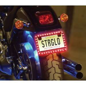 MCLLPYW Yellow Motorcycle LED License Plate Frame Automotive