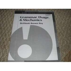 Many Voices Language Grammar, Usage,, & Mechanics Skillbook Answer Key