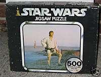 Vintage 1977 Star Wars Jigsaw Puzzle Luke Skywalker