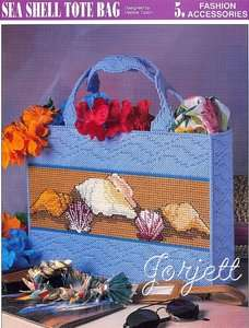 Sea Shell Tote Bag, Annies plastic canvas pattern