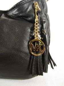 Michael Kors MK Bennet Black Leather Hobo Shoulder Bag MSRP $328