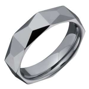 Exquisite Tungsten Carbide Ring Wedding Band with Geometric Shape