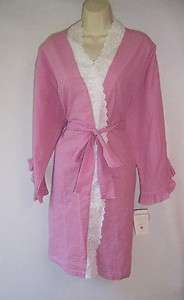 Eileen West 5914574 Flower Child Seersucker Long Wrap Robe
