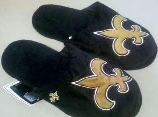 Pair New Orleans Saints Big Logo Slippers 2010 NEW NFL