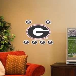 Georgia Bulldogs 7 Pack Team Logo Wall Decals Sports