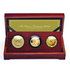 2012 3 Coin Royal Gold Set   Queens Diamond Jubilee (W