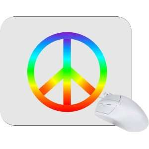 Rikki Knight Rainbow Peace Sign Mouse Pad Mousepad   Ideal
