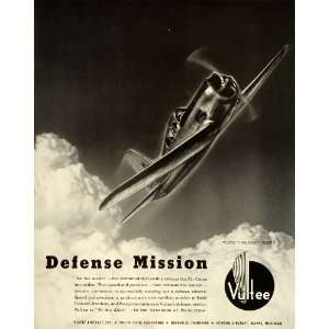 1941 Ad Vultee Vanguard Aircraft Air Force Military Defense