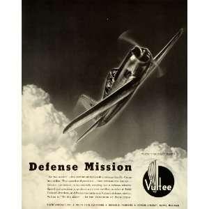 1941 Ad Vultee Vanguard Aircraft Air Force Military Defense