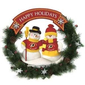 Washington Redskins Team Snowman Wreath