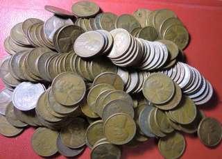 1945 D Denver Mint Lincoln Wheat Penny Cent (Four coins)