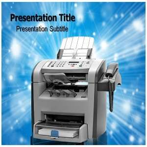 Fax PowerPoint Template   Fax PowerPoint (PPT) Backgrounds