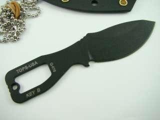 Tops Key Neck Knife TPKEYB Neck Serial # 026