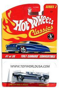Classics series 2 #7 1967 Chevy Camaro Convertible black blue white