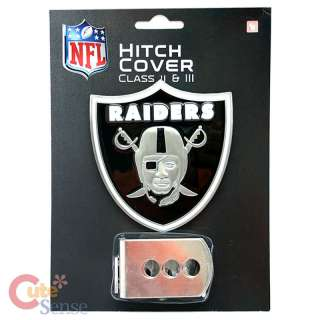 NFL Oakland Raiders Trailer/Truck Hitch Cover  Metal