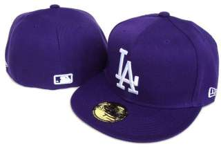 35 Fitted MLB Hat LOS ANGELES DODGERS Purple Cap LA 5950