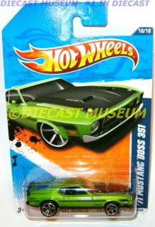 1971 71 FORD MUSTANG BOSS 351 HOT WHEELS HW DIECAST