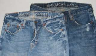 mens American Eagle jeans Low Rise Boot Cut 29 x 32 Lot X2 AE
