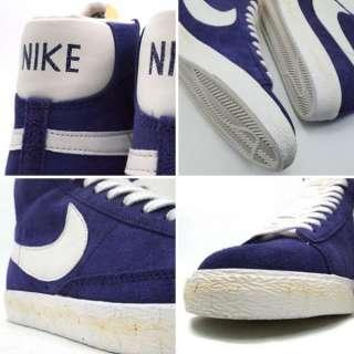 NIKE BLAZER HI SUEDE VNTG VINTGE Mens Retro Purple Basketball Shoes