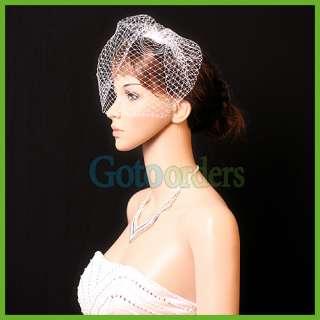 Bridal Veils 9Rhinestones Birdcage Blusher Russian Net