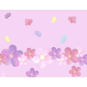 Pastel Flower & Butterfly Wall Stickers (35) Girls Room