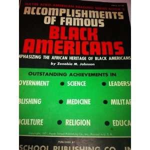 Famous Black Americans Series Book 3 Zenobia Malarcher Johnson Books