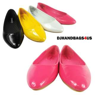 Womens Comfy Casual Ballet Faux Leather Flat Shoes   RENEE