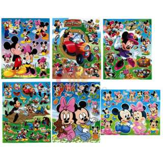 Disney Mickey Mouse & Friends Stickers Cling Set of 6   Removable Wall